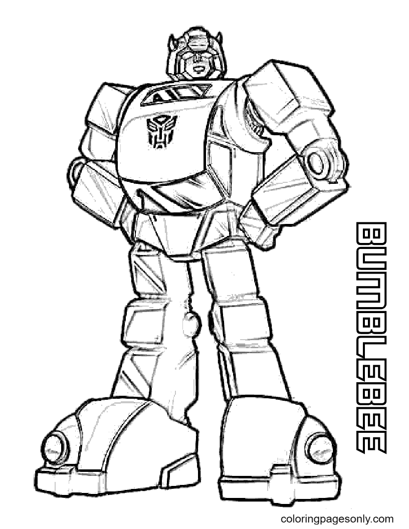 Transformers Bumblebee Free Coloring Page