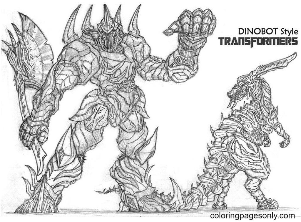Transformers Dinobots Coloring Page