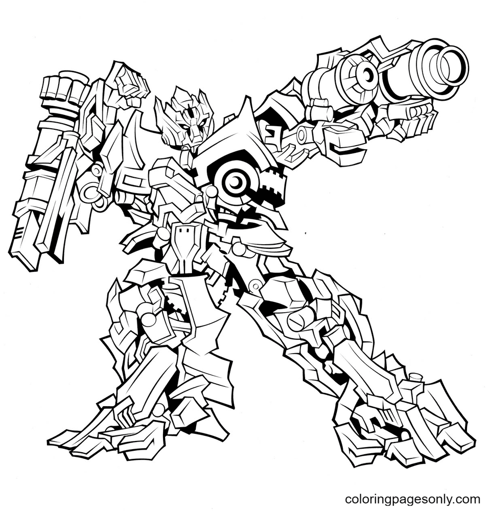 Transformers Free Coloring Page