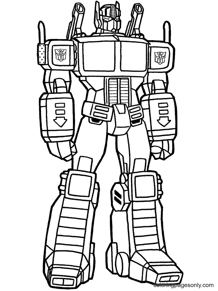 Transformers Fusion Robot Designs Coloring Page