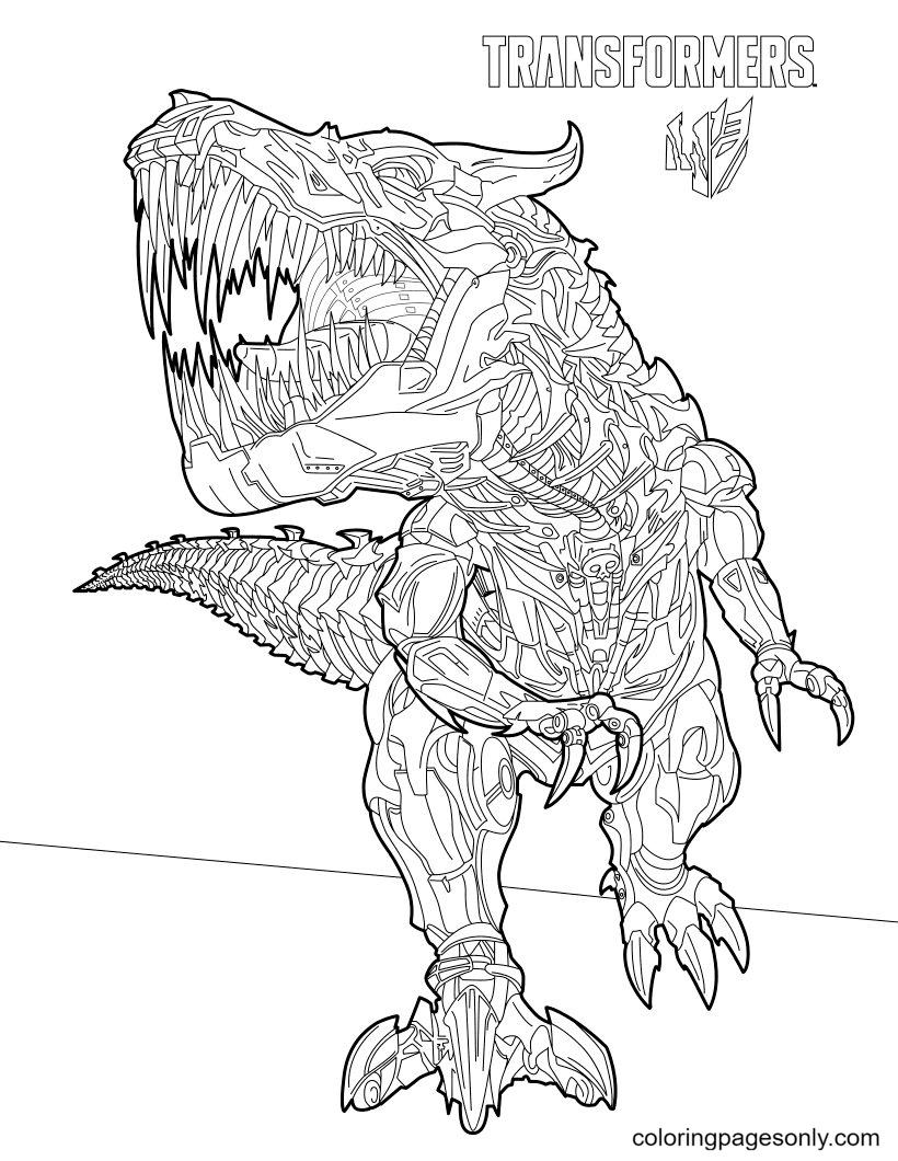 Transformers Grimlock Coloring Page