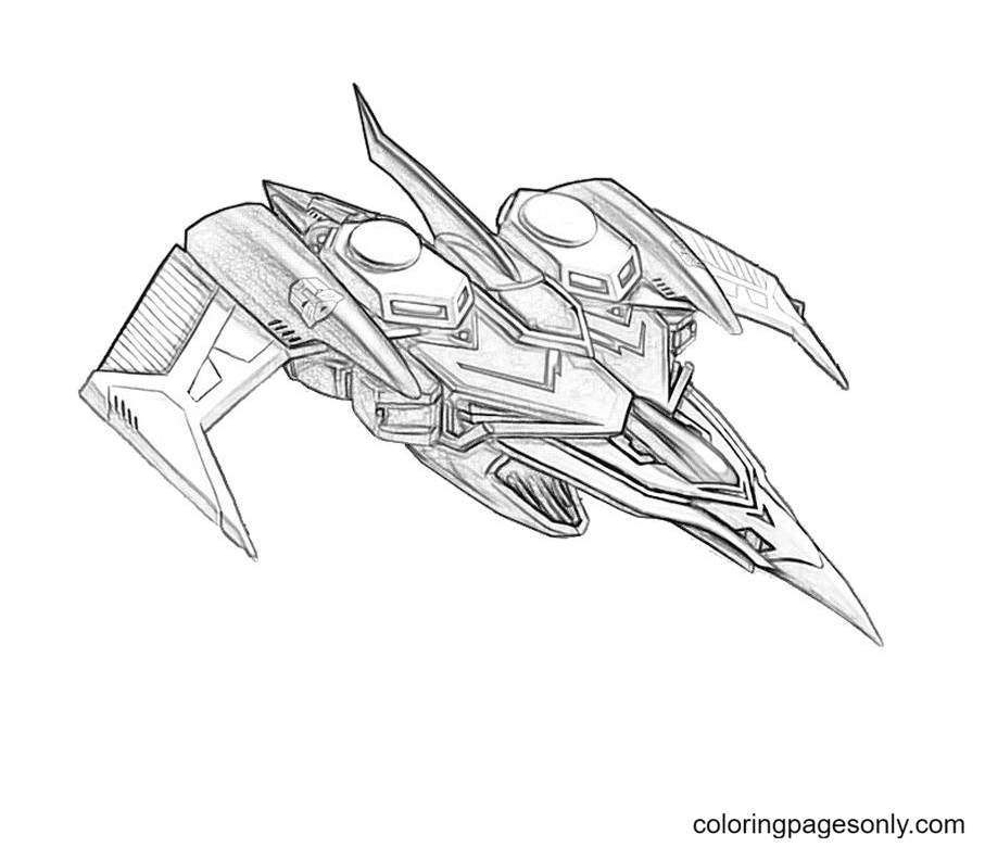 Transformers Megatron Free Coloring Page