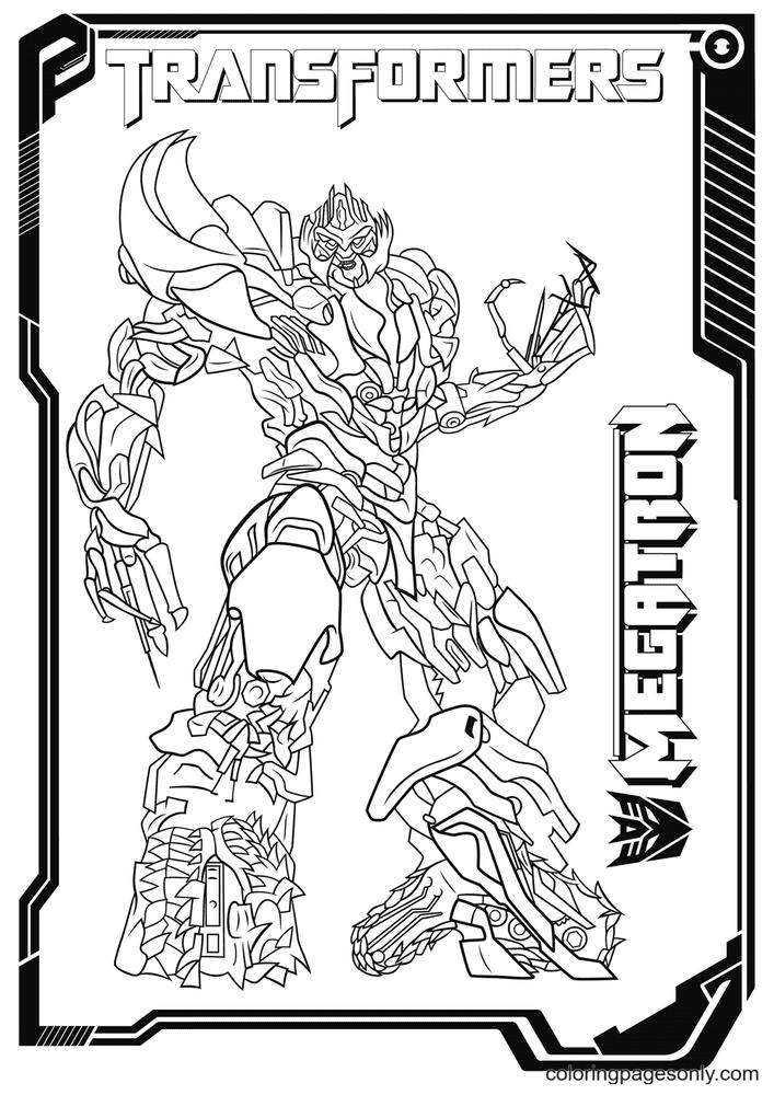 Transformers Megatron Printable Coloring Page
