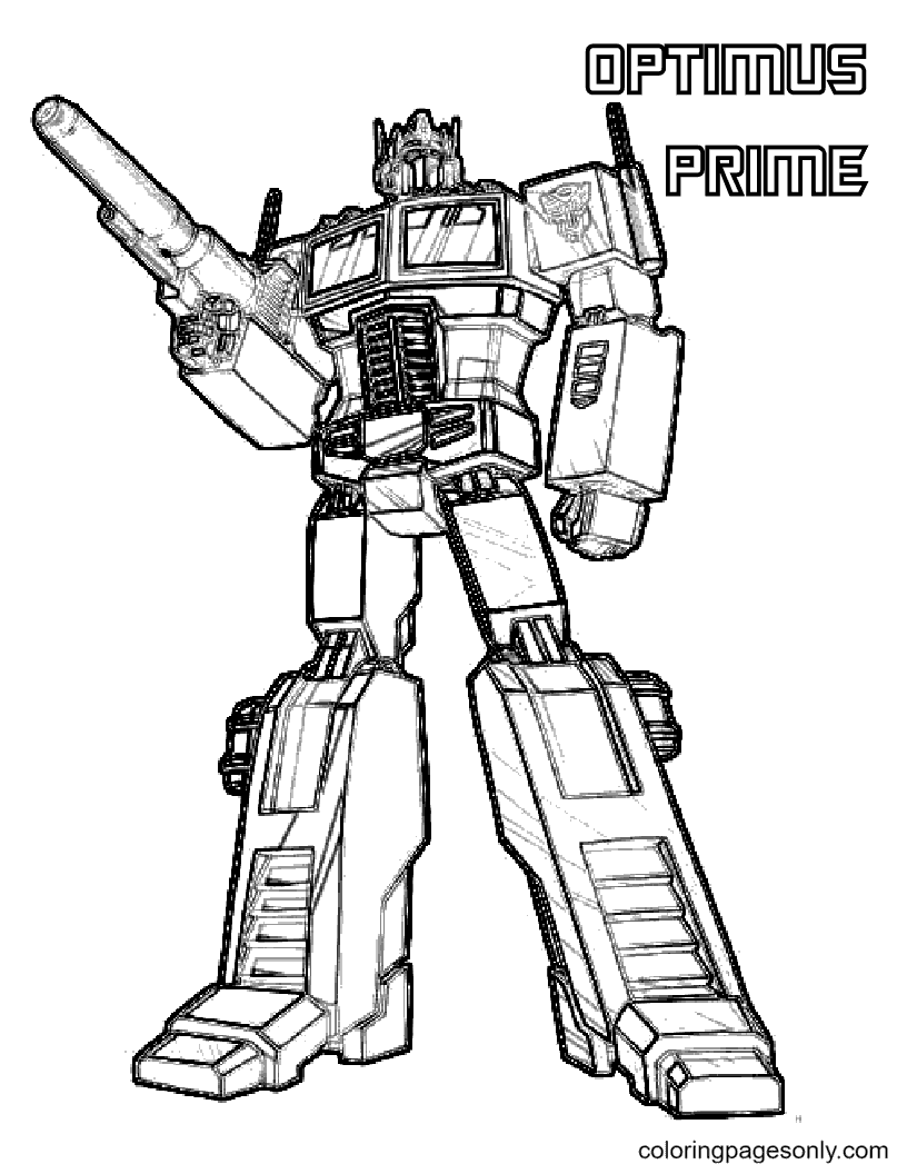Transformers Optimus Prime Free Coloring Page