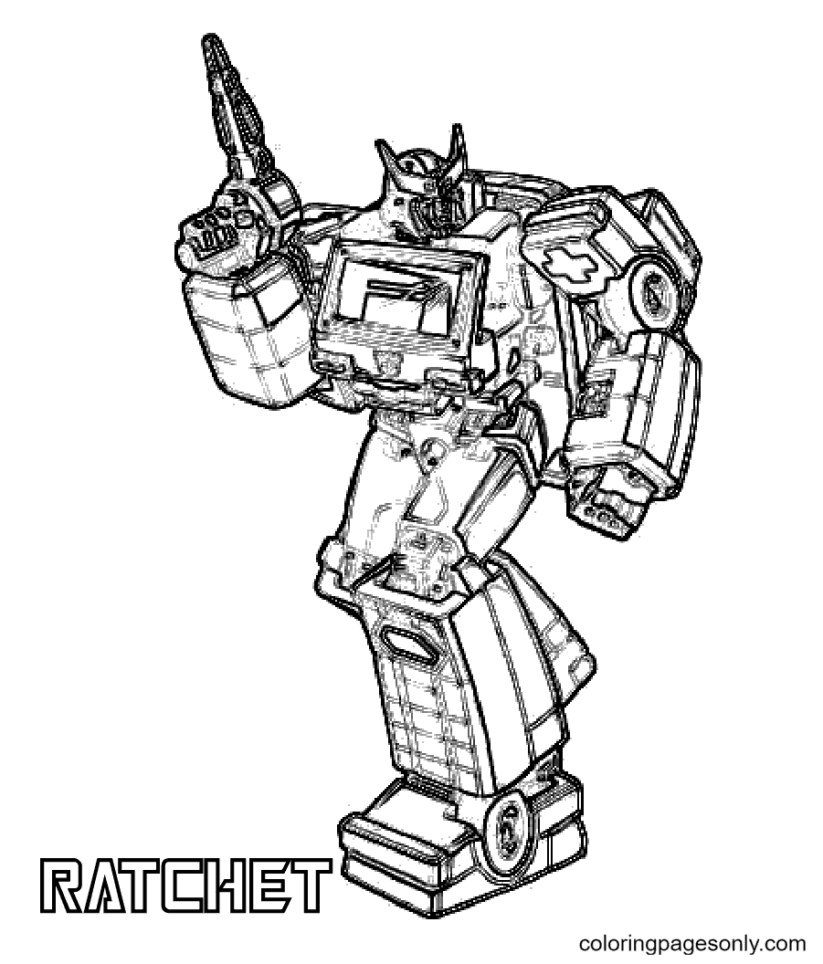 Transformers Ratchet Coloring Page