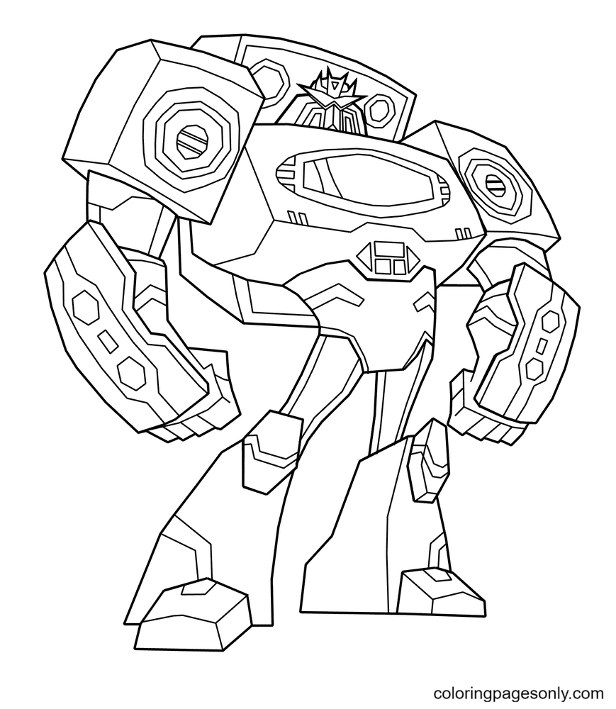 Transformers Strong Coloring Page