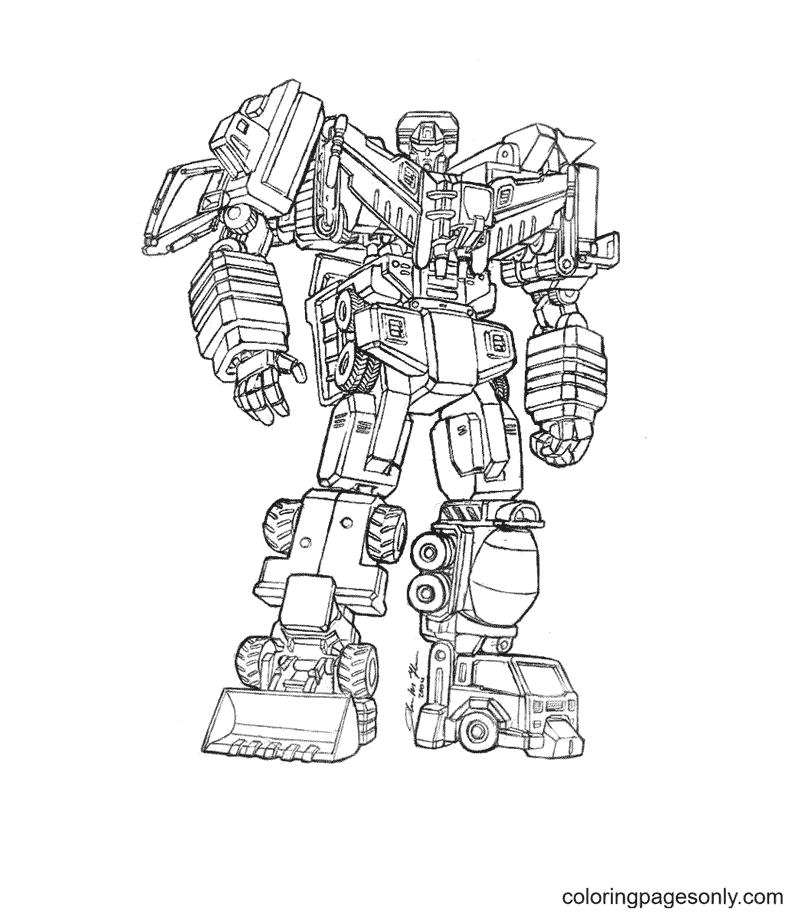 Transformers en robots Coloring Page