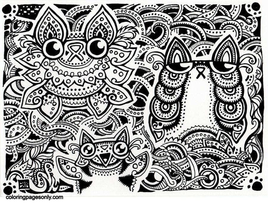 Trippy Pictures 1 Coloring Page