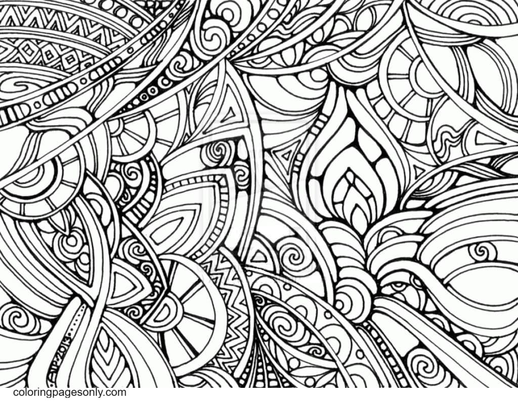 Trippy Pictures Coloring Page