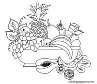 Tropical Fruits Coloring Pages