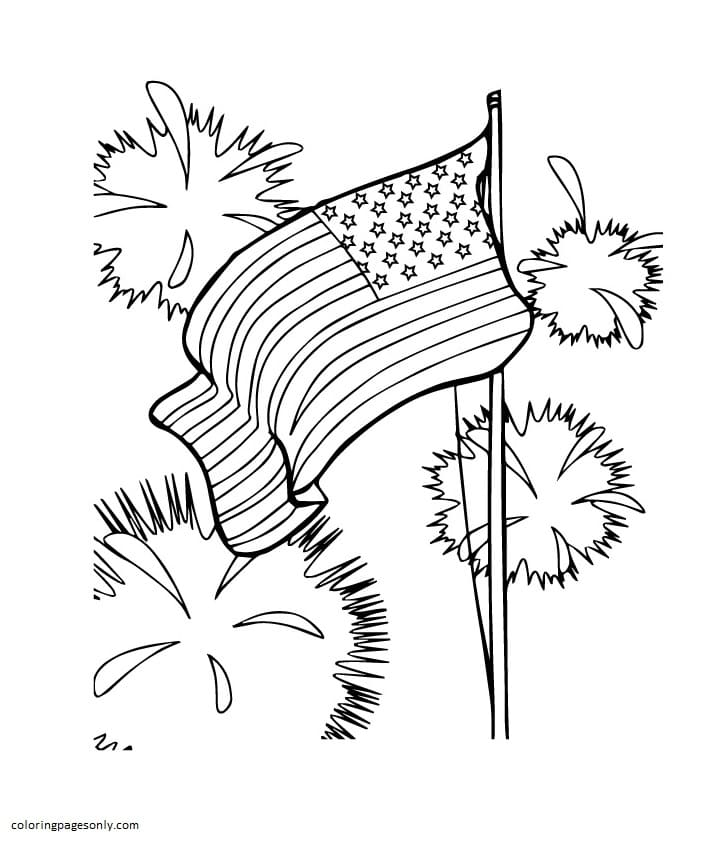 USA Independence Day Coloring Page