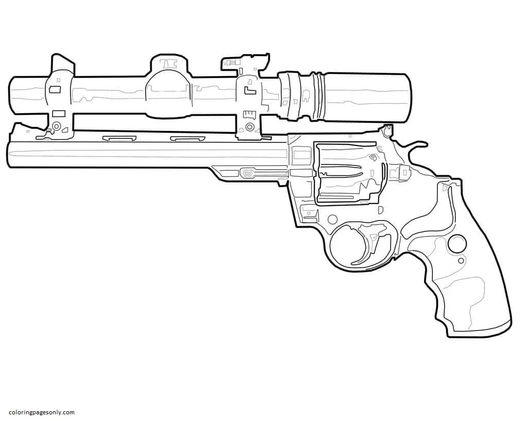 Ultra precise nerf rifle Coloring Page