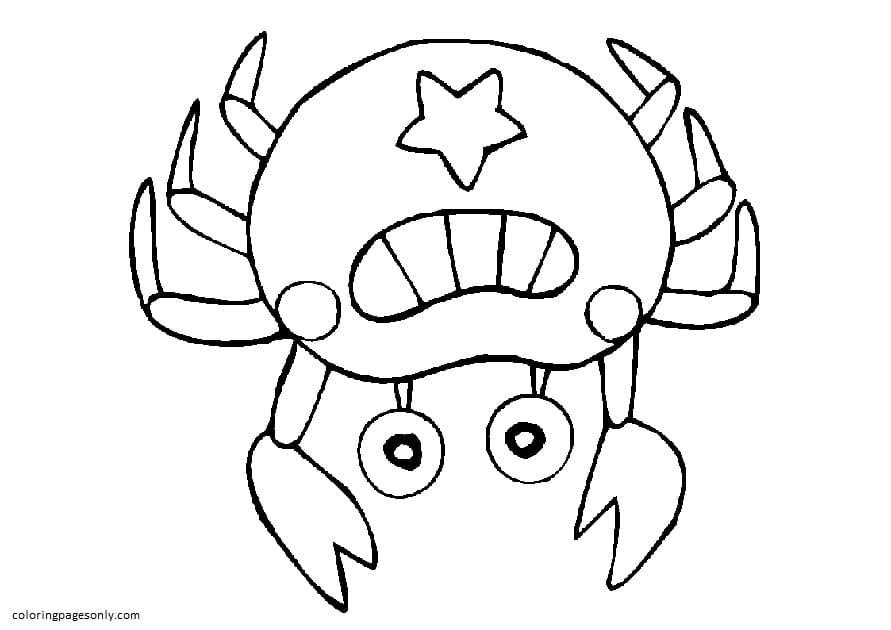 Usa Crab Coloring Page