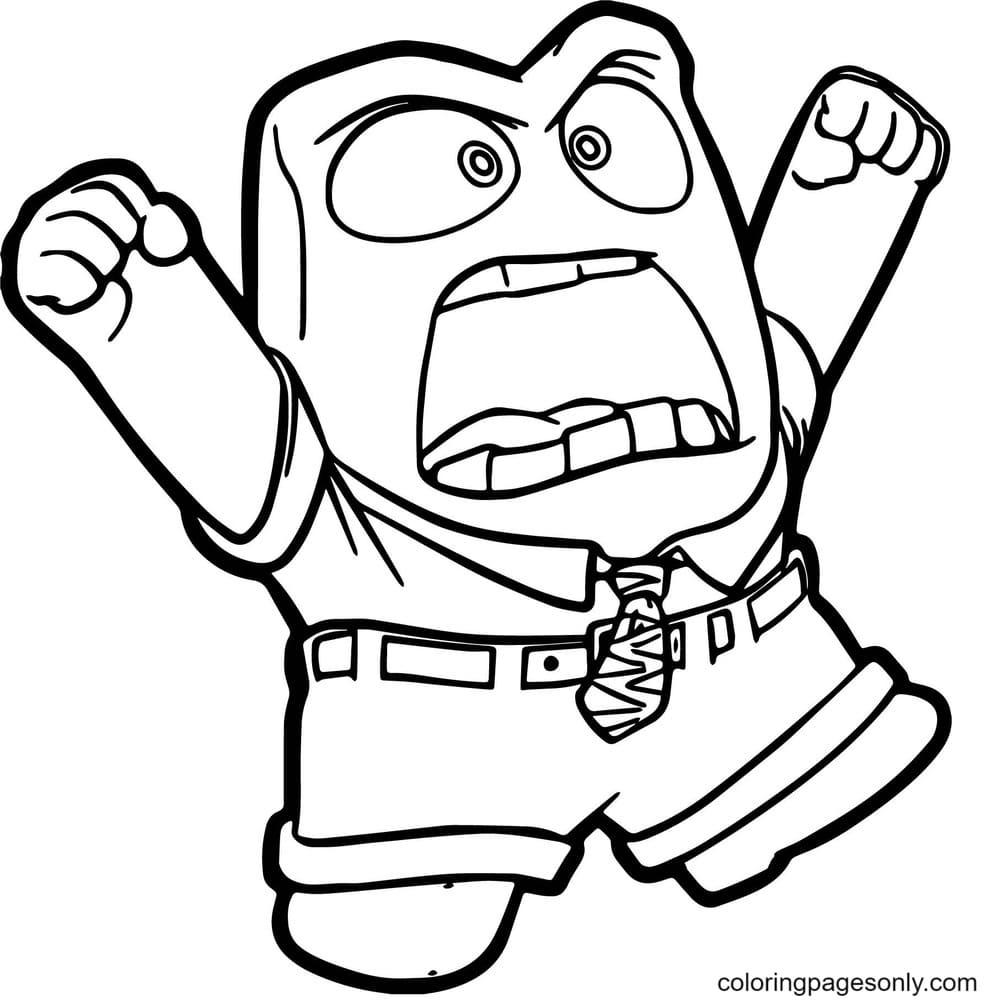 Very Angry Anger Coloring Page