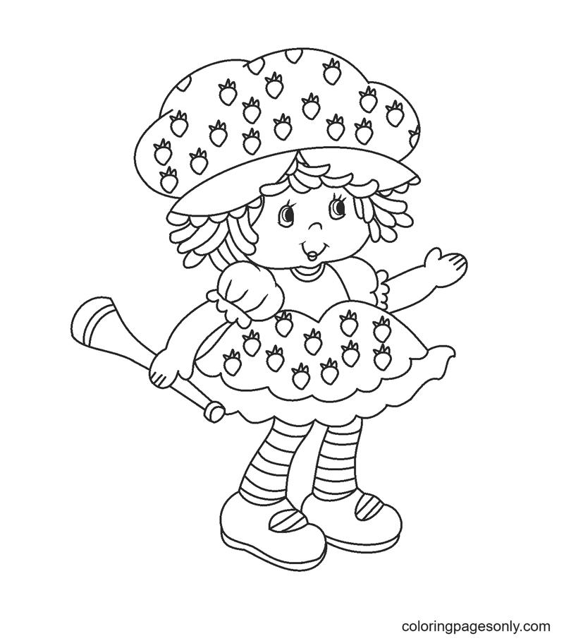 Vintage Strawberry Shortcake Coloring Page