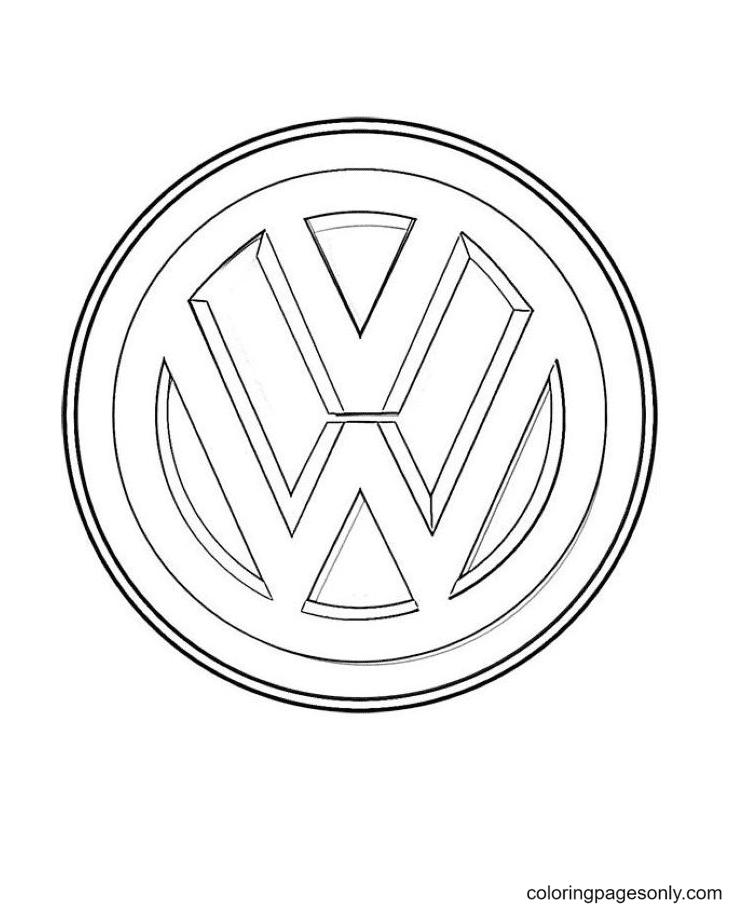 Volkswagen Logo Coloring Page