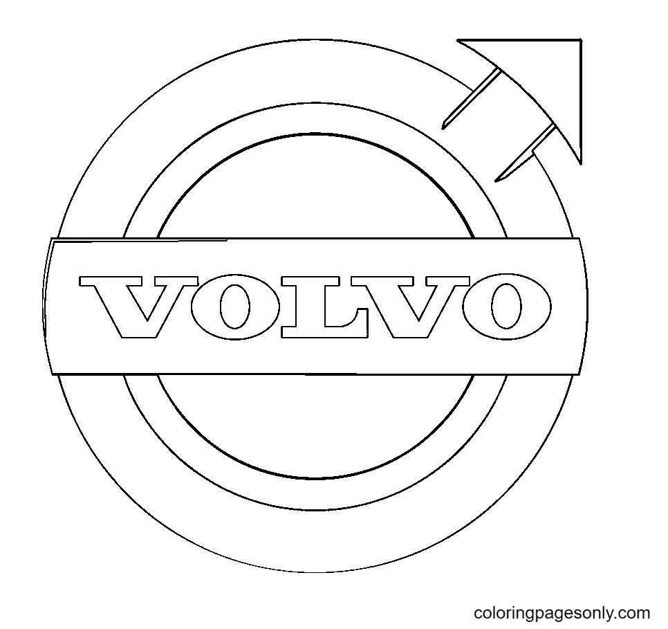 Volvo Logo Coloring Page