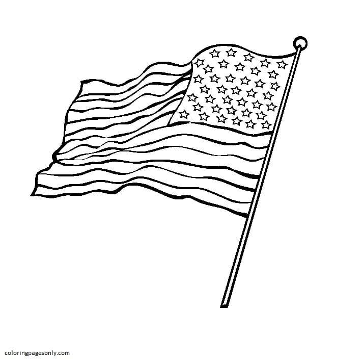 Waving Flag Coloring Page