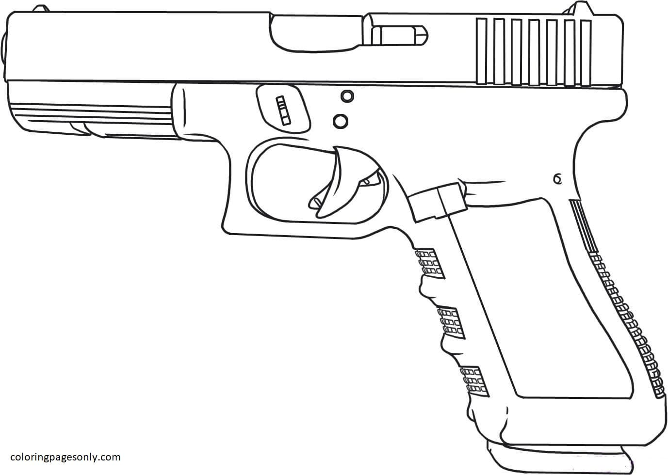 Weapon Nerf Coloring Page