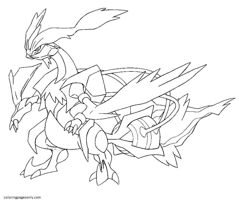 White Kyurem Coloring Page