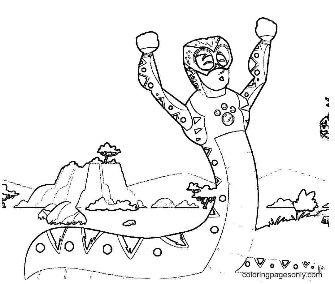 Wild Kratts Catoon Coloring Page