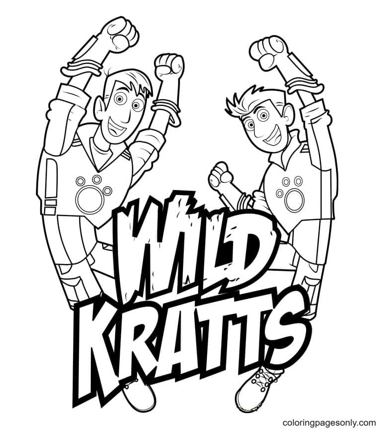 Wild Kratts – Chris And Martin Coloring Page