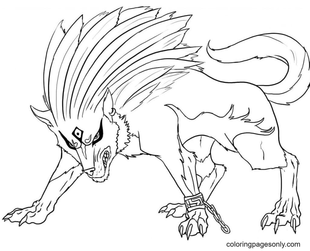 Wolf Puppy Coloring Page