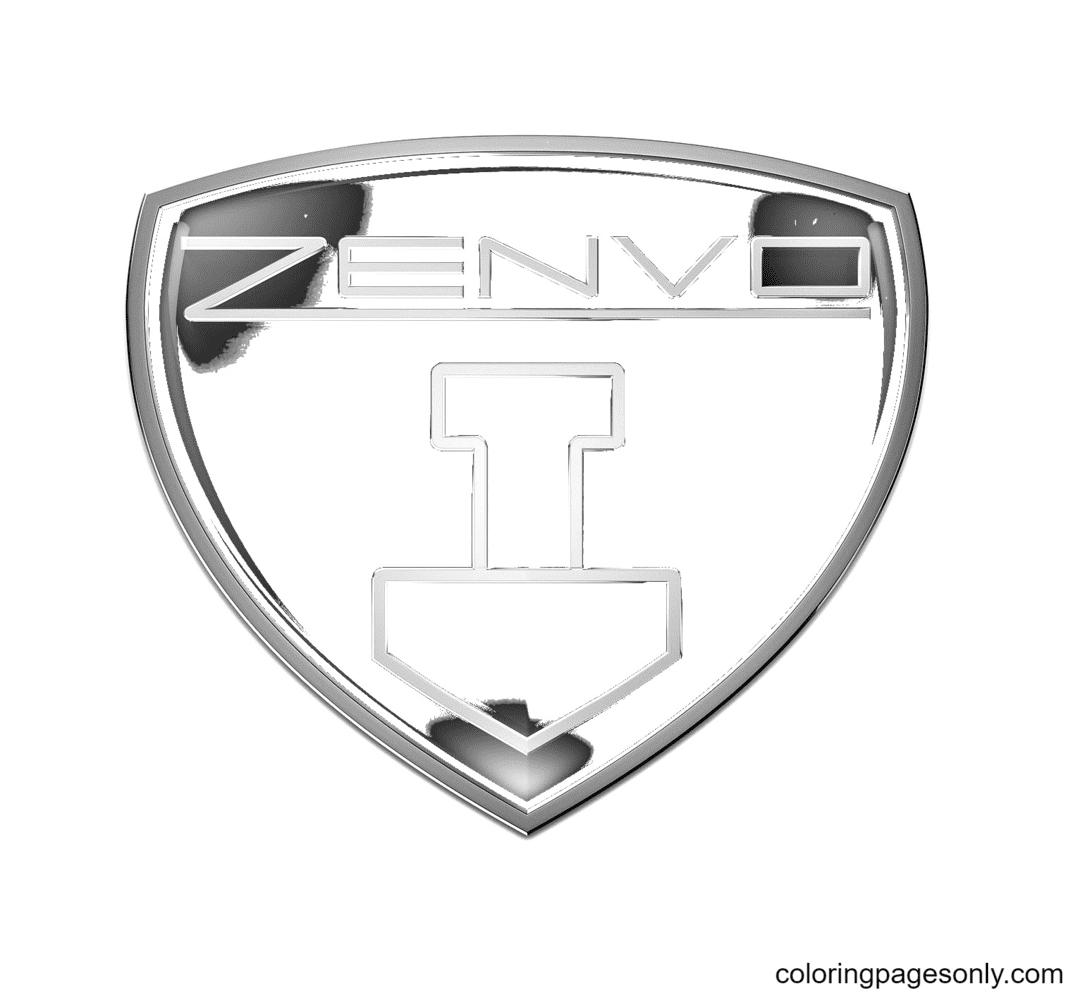 Zenvo Logo Coloring Page