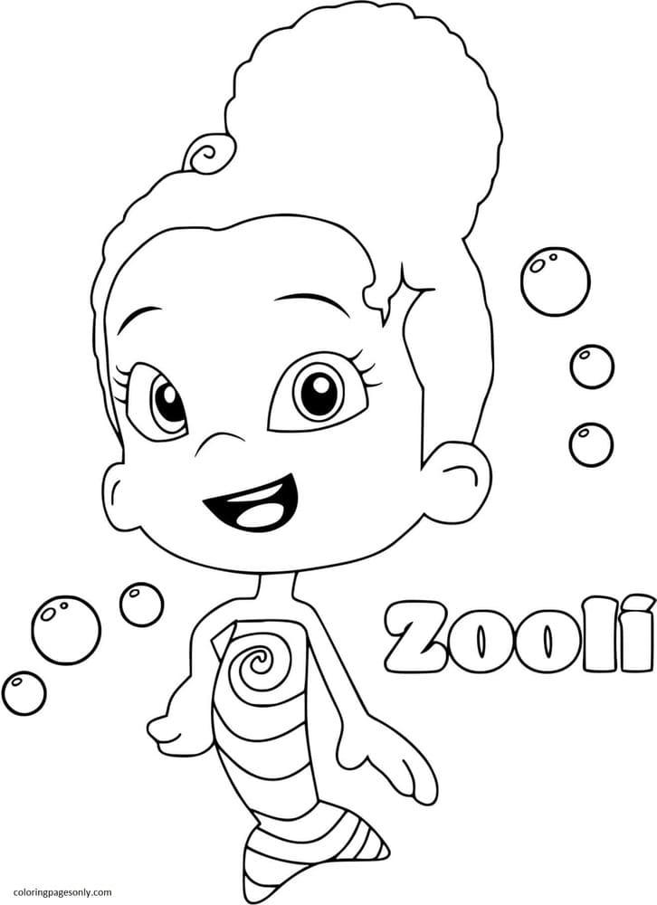 Zooli Bubble Guppies Coloring Page
