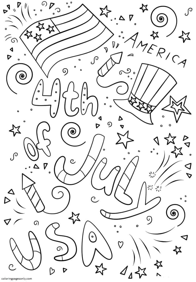 Beautiful 4th of july Coloring Page