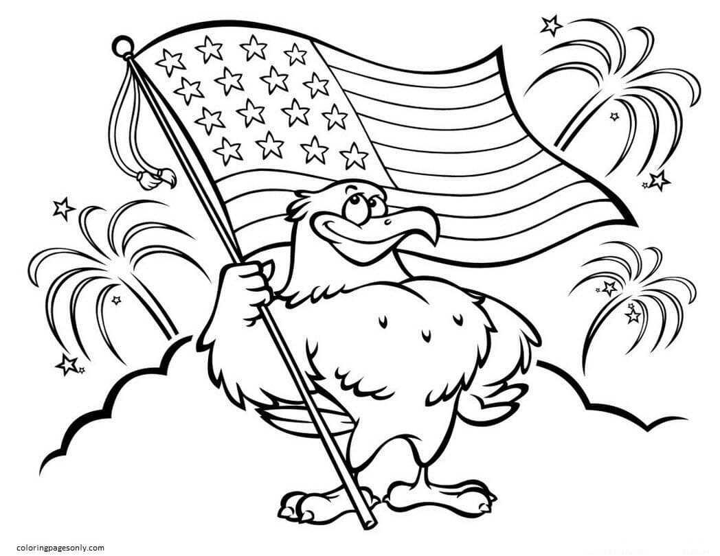 Disney 4th of july patriotic Coloring Page