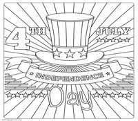 Independence Day 4th Of July Coloring Page