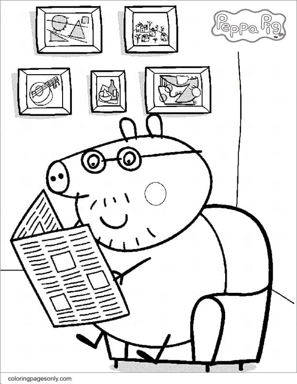 Daddy Pig Coloring Page