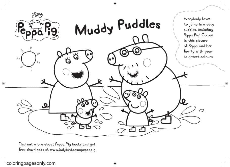 Peppa Pig Book Coloring Page