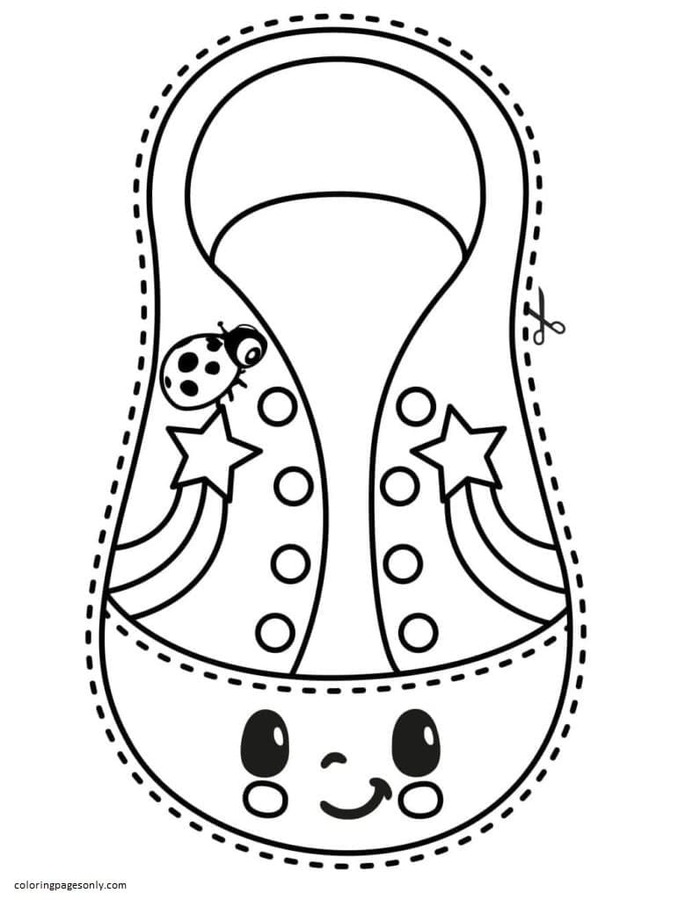 Shoelace Coloring Page