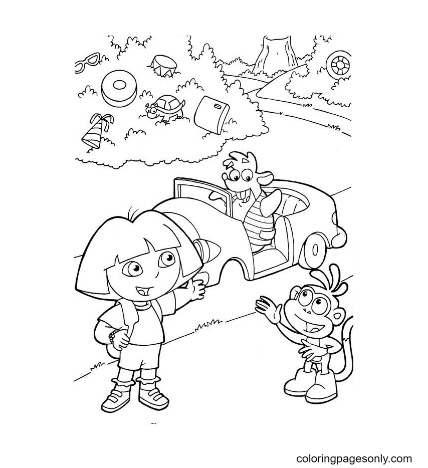 A New Car Coloring Page