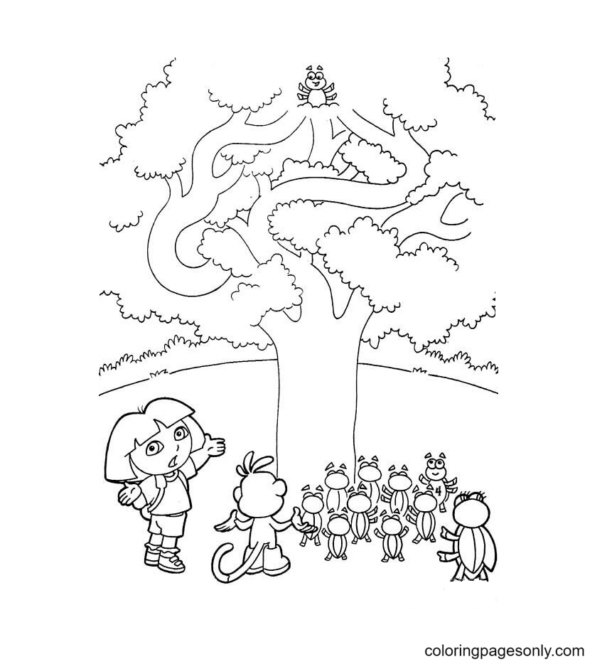 A Tree Coloring Page