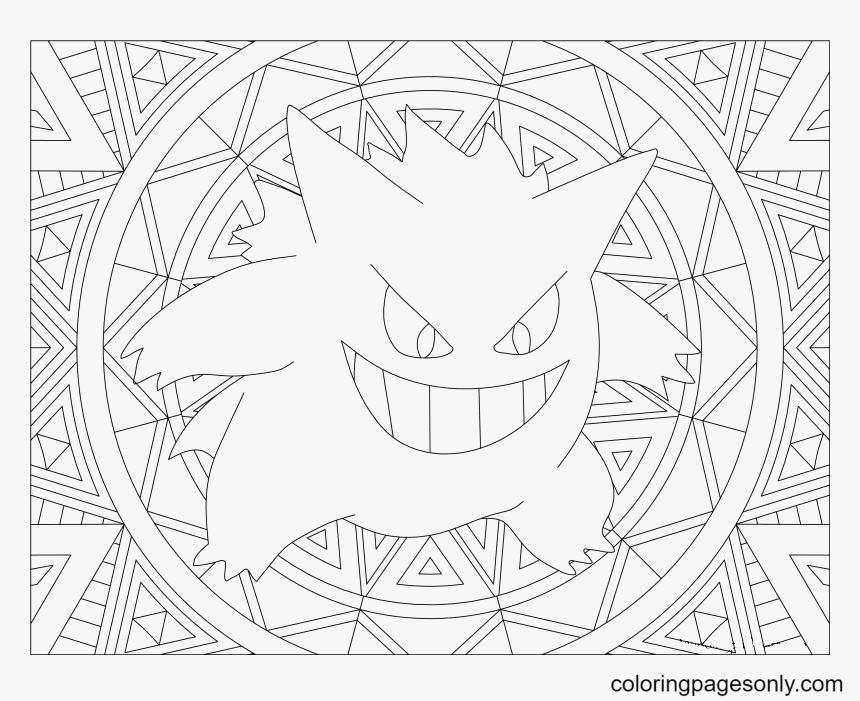 Adult Gengar Pokemon Coloring Page