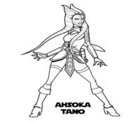 Ahsoka Coloring Page