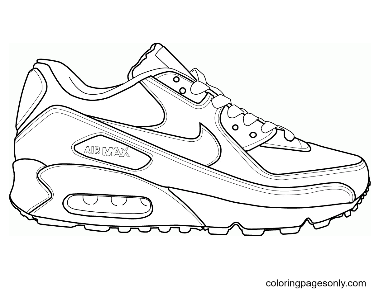 Air Max Shoes Coloring Page