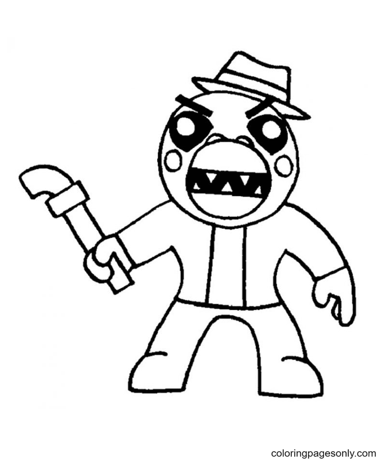 Alfis Roblox Piggy Coloring Page