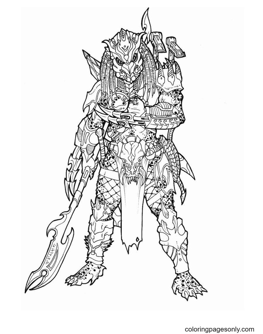 Alien Predator Coloring Page