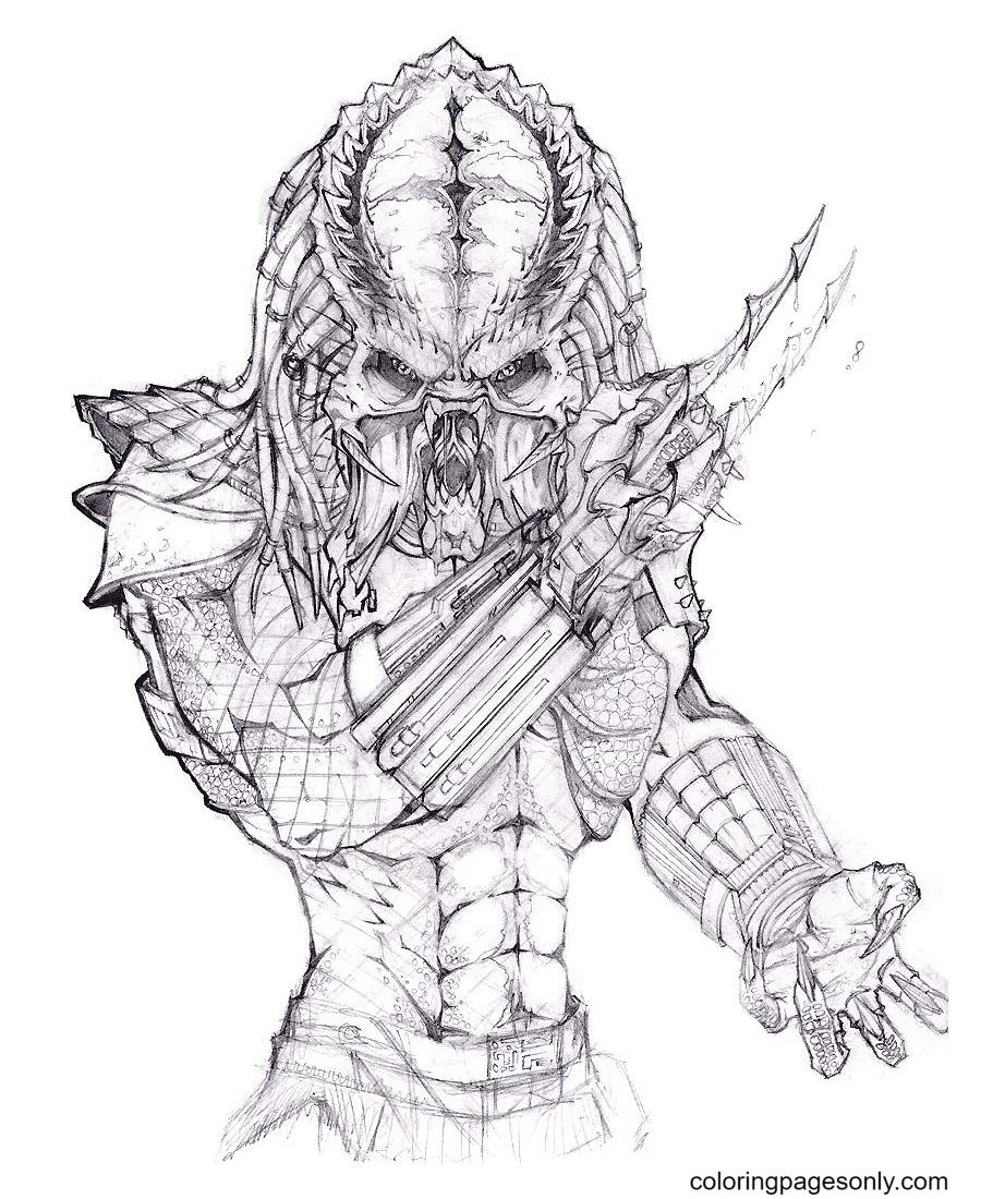Alien Vs Predator Free Coloring Page