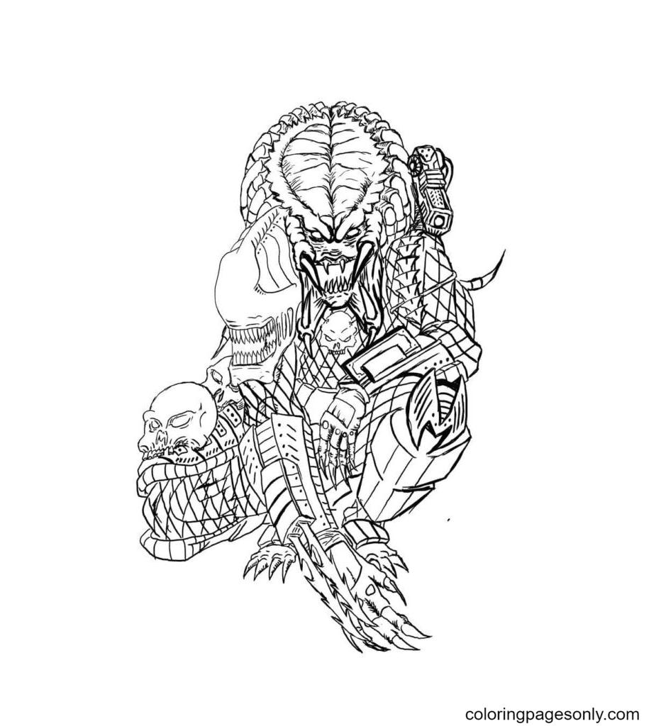 Alien v Predator Coloring Page
