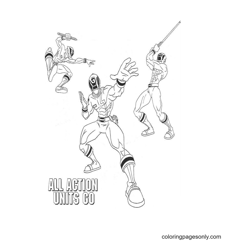 All Action Units Go Coloring Page