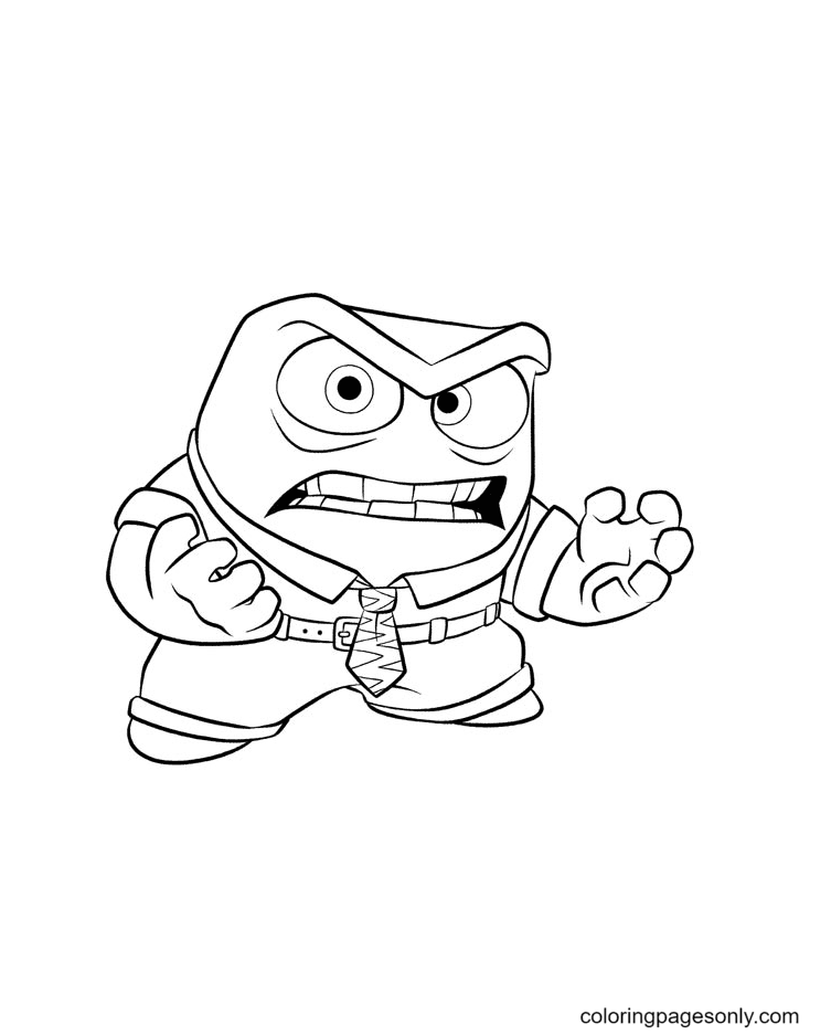 Anger From Inside Out Coloring Page
