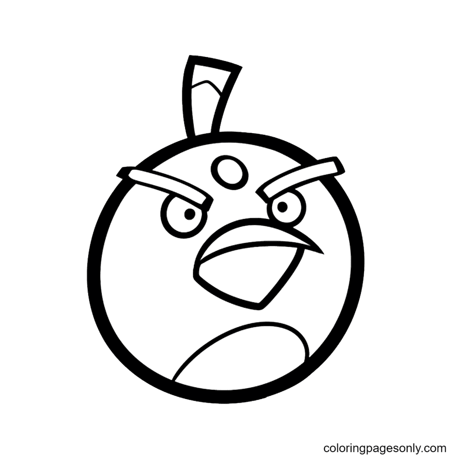 Angry Bird Bomb Coloring Page