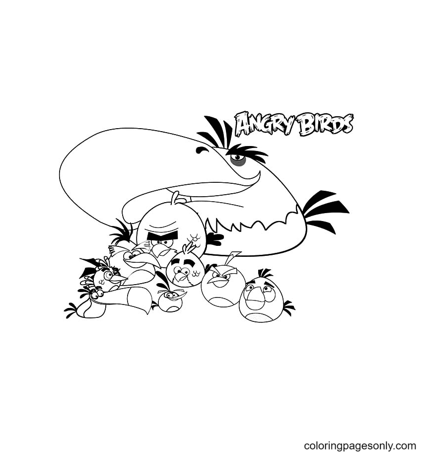 Angry Bird The Movie Coloring Page