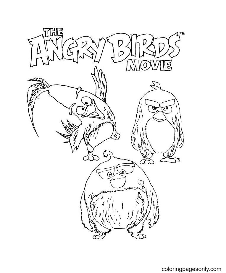 Angry Birds Movie Coloring Page
