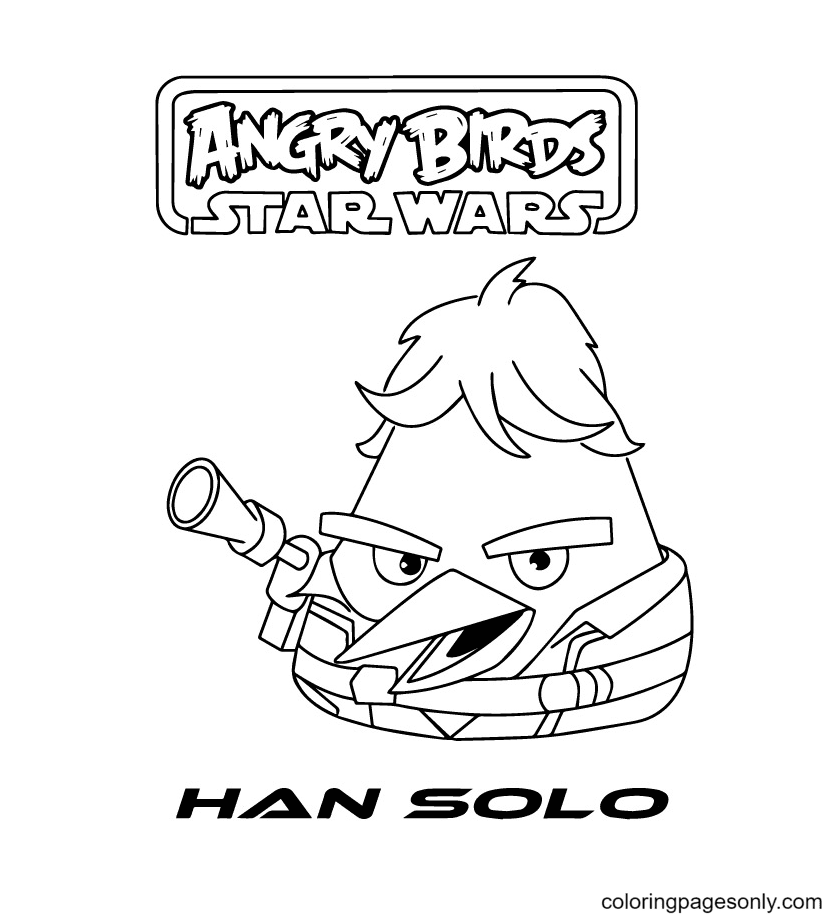 Angry Birds Star Wars Han Solo Coloring Page